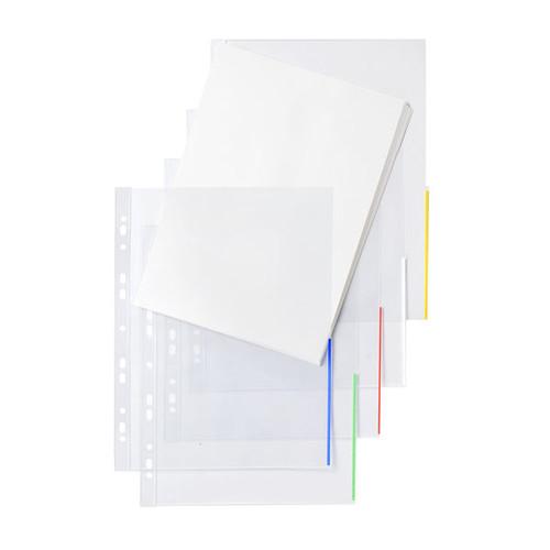 Prospekthülle oben + halbseitig rechts offen A4 überbreite 310x235/217mm transparent/grün PP Folder Sys 46 325 (PACK=100 STÜCK) Produktbild Front View L