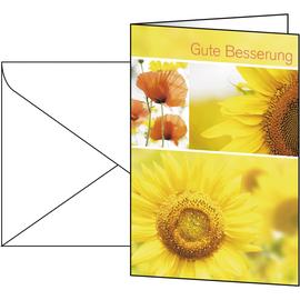 Glückwunsch-Karten inkl. Umschläge 115x170mm 220g Gute Besserung Sigel DS047 (PACK= JE 10 STÜCK) Produktbild