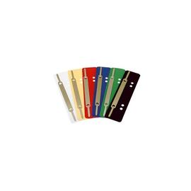 Einhänge-Heftstreifen kurz mit Metall-Deckschiene 34x150mm schwarz PP BestStandard (PACK=25 STÜCK) Produktbild