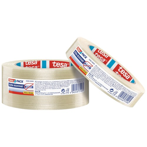 Klebeband Monofilament tape 25mm x 50m transparent ultra resistant Tesa 45902-00000-00 (RLL=50 METER) Produktbild Additional View 2 L