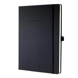 Notizbuch CONCEPTUM Softwave punktkariert A4 213x295mm 194Seiten schwarz Hardcover Sigel CO108 Produktbild