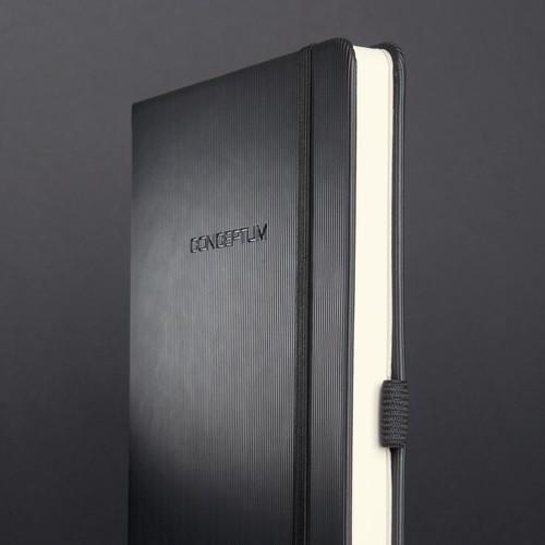 Notizbuch CONCEPTUM Softwave punktkariert A4 213x295mm 194Seiten schwarz Hardcover Sigel CO108 Produktbild Additional View 7 L