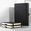 Notizbuch CONCEPTUM Softwave punktkariert A5 135x210mm 194Seiten dark grey Softcover Sigel CO309 Produktbild Back View S