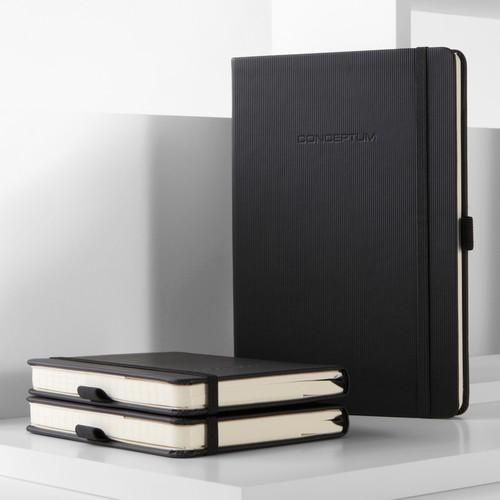 Notizbuch CONCEPTUM Softwave punktkariert A5 135x210mm 194Seiten dark grey Softcover Sigel CO309 Produktbild Back View L