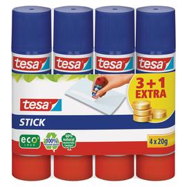 Klebestift Stick ecoLogo 20g Stift 3+1 gratis Lösungsmittelfrei Tesa 57088-00200-02 (PACK = 4X20GRAMM) Produktbild