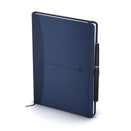 Notizbuch Oxford Signature for Men A5 kariert Hard Cover 72Blatt 90g blau Optik Paper weiß 400053156 Produktbild