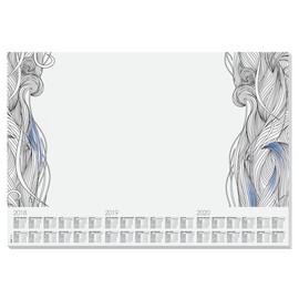 Schreibunterlage Relax mit 3-Jahres Kalender 41x59,5cm 30Blatt Papier Sigel HO480 Produktbild