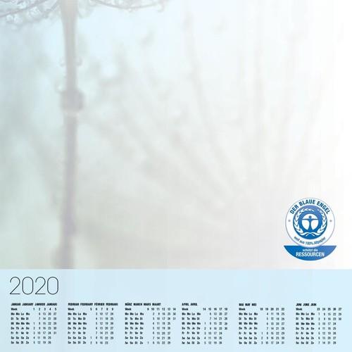 Schreibunterlage Drops mit 3-Jahres Kalender 41x59,5cm 30Blatt Papier Sigel HO450 Produktbild Additional View 2 L