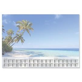 Schreibunterlage Beach mit 3-Jahres Kalender 41x59,5cm 30Blatt Papier Sigel HO470 Produktbild