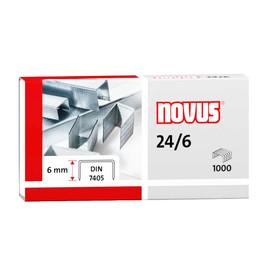 Heftklammern 24/6 verzinkt Stahldraht Novus 040-0158 (PACK=1000 STÜCK) Produktbild