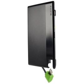 Powerbank Complete mit Lightning-Kabel im Kreditkartenformat 1350mAh schwarz Leitz 6526-00-95 Produktbild