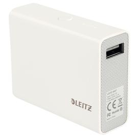 USB-Powerbank Complete mit 1 Ausgang 2.1A 6000mAh Lithium-Ion Akku weiß Leitz 6527-00-01 Produktbild