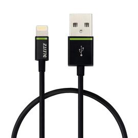 USB-Kabel Complete Lightning 30cm schwarz Leitz 6209-00-95 Produktbild
