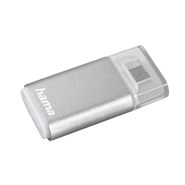 Kartenleser für Smartphone/Tablet microSD USB 2.0 OTG silber Hama 00181019 Produktbild