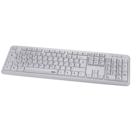 Tastatur Basic Keyboard Verano USB weiß Hama 00182661 Produktbild