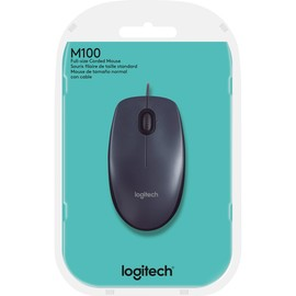 Optical Mouse M100 3 Tasten USB anthrazit Logitech 910-005003 Produktbild