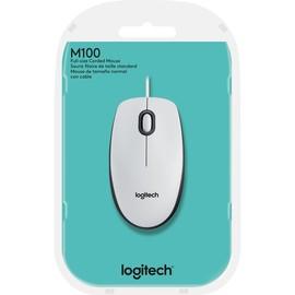 Optical Mouse M100 3 Tasten USB weiß Logitech 910-005004 Produktbild