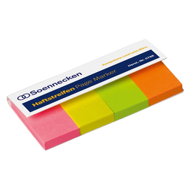 Haftstreifen Page Marker 20x50mm 4 Farben Soennecken 5788 (PACK=200 STÜCK) Produktbild
