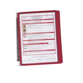 Sichttafelwandhalter VARIO Wall 5 A4 + 5 Sichttafeln rot Durable 5551-03 (SET = 1 SICHTTAFELWANDHALTER + 5 SICHTTAFELN) Produktbild