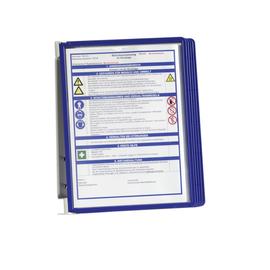 Sichttafelwandhalter VARIO Wall 5 A4 + 5 Sichttafeln dunkelblau Durable 5551-07 (SET=5 STÜCK) Produktbild