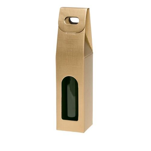 Tragekarton gold Seta Für 1 Flaschen Famulus 110308 Produktbild Front View L
