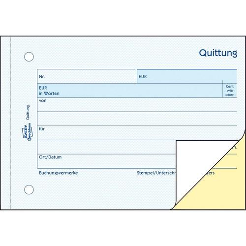 Quittung für Kleinunternehmer A6 quer 2x40Blatt Mwst nicht ausgewiesen selbstdurchschreibend Zweckform 1742 Produktbild Additional View 2 L