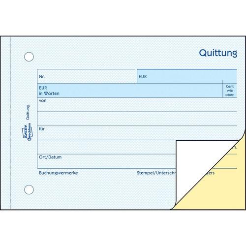 Quittung für Kleinunternehmer A6 quer 2x40Blatt Mwst nicht ausgewiesen selbstdurchschreibend Zweckform 1742 Produktbild Additional View 3 L