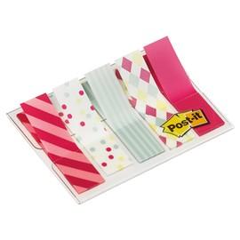 Haftstreifen Post-it Index Mini Candy Collection durchgefärbt 11,9x43,2mm 5 Farben 3M 684-CAN5 (PACK=5x20 STÜCK) Produktbild