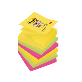 Haftnotizen Post-it Super Sticky Z-Notes 76x76mm Rio de Janeiro Z-Faltung Papier 3M R3306SR (PACK=6x90 BLATT) Produktbild