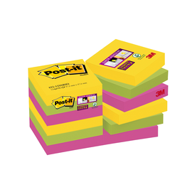 Haftnotizen Post-it Super Sticky Notes 48x48mm Rio de Janeiro Papier 3M 62212SR (STÜCK=12x90 BLATT) Produktbild