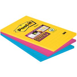 Haftnotizen Post-it Super Sticky Notes 101x152mm Rio de Janeiro Papier liniert 3M 4690-S3R (PACK=3x90 BLATT) Produktbild