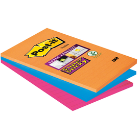 Haftnotizen Post-it Super Sticky Notes 101x152mm Bangkok Papier liniert 3M 4690-S3B (PACK=3x90 BLATT) Produktbild
