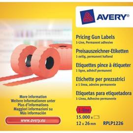 Auszeichnungsetiketten permanent 26x12mm 1-zeilig rot Zweckform RPLP 1226 (PACK=15000 ETIKETTEN) Produktbild