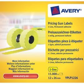 Auszeichnungsetiketten permanent 26x12mm 1-zeilig gelb Zweckform YPLP 1226 (PACK=15000 ETIKETTEN) Produktbild