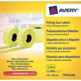 Auszeichnungsetiketten permanent 26x16mm 1-zeilig gelb Zweckform YPLP 1626 (PACK=12000 ETIKETTEN) Produktbild