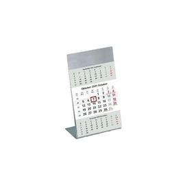 Dreimonatskalender 2022 auf Metall- ständer 9,5x19,5cm weiß/grau Zettler 980-6100 Produktbild