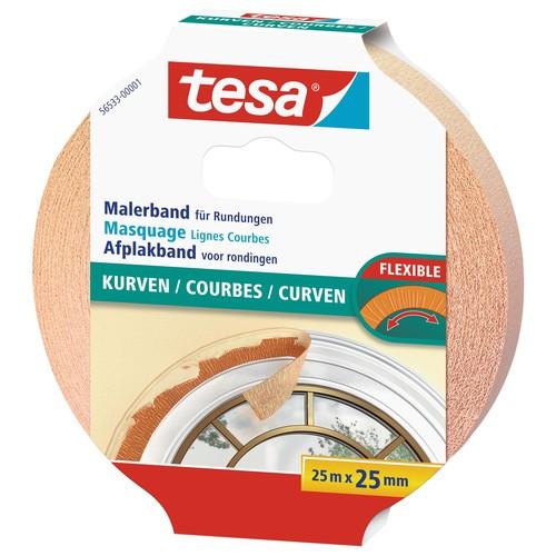 Klebeband Malerkrepp für Kurven 25mm x 25m chamois Tesa 56533-00001-00 (RLL=25 METER) Produktbild Additional View 1 L