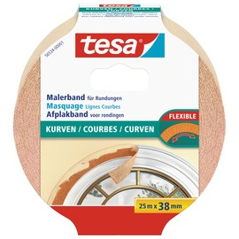 Klebeband Malerkrepp für Kurven 38mm x 25m chamois Tesa 56534-00001-00 (RLL=25 METER) Produktbild