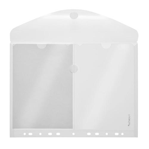 Dokumententasche 2xA5 mit Abheftrand und Klettverschluss farblos PP FolderSys 40152-04 Produktbild