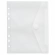 Dokumententasche A5 mit Abheftrand und Klettverschluss farblos PP FolderSys 40156-04 Produktbild