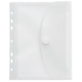 Dokumententasche A5 mit Dehnfalte 20mm Abheftrand und Klettverschluss farblos PP FolderSys 40159-04 Produktbild