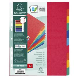 Register Blanko A4+ 327x274mm 10-Teilig farbig Manilakarton Exacompta 2410E Produktbild