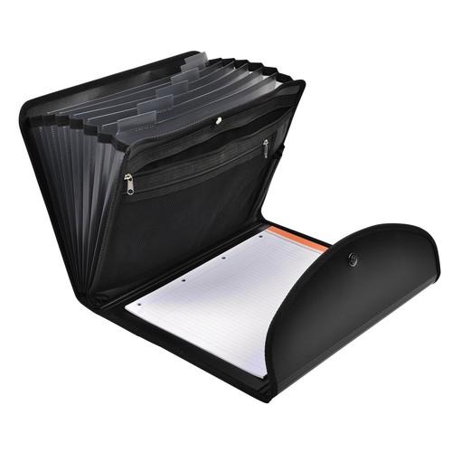 Fächermappe Exafolio A4 6-teilig PP schwarz ExaClair 55834E Produktbild