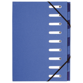 Ordnungsmappe Forever A4 mit Gummizug und 9 Fächern blau Karton Exacompta 52982E Produktbild