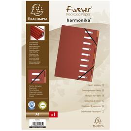 Ordnungsmappe Forever A4 mit 9 Fächern und Gummizug rot Karton Exacompta 52985E Produktbild