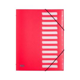 Ordnungsmappe Urban mit Gummizug A4 mit 12 Fächern rot PP Elba 400104523 Produktbild