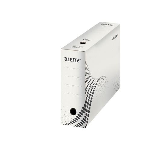 Archivbox easyboxx 100x250x350mm Rückenbreite 100mm weiß Leitz 6132-00-00 Produktbild Additional View 1 L