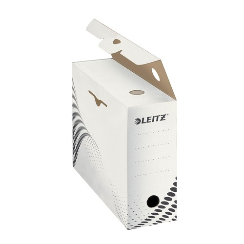 Archivbox easyboxx 100x250x350mm Rückenbreite 100mm weiß Leitz 6132-00-00 Produktbild Additional View 2 L