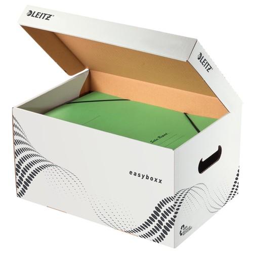 Archiv Container easybox mit Deckel Größe S 355x193x252mm weiß Leitz 6135-00-00 Produktbild Additional View 1 L