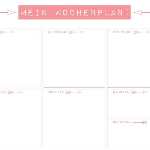 Schreibunterlage Mein Wochenplan 42x29,7cm 30Blatt Papier Sigel HO507 Produktbild Additional View 1 L